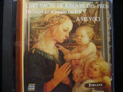 L'ART SACRE DE JOSQUIN DES PRES - A SEI VOCI - 1985年法國盤 - 251元起標  新世紀  50