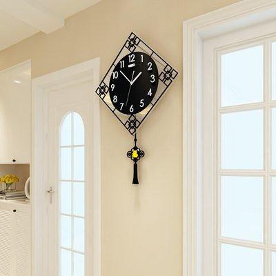 【佰尚惠】新款掛鐘客廳簡約時尚家用中式家庭時鐘創意大氣掛墻石英鐘