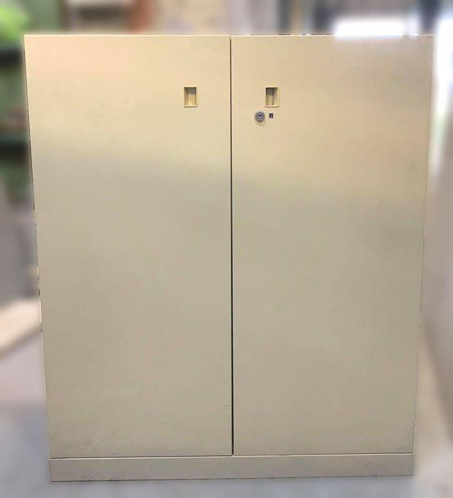 台中二手家具店 宏品全新中古傢俱C52702*雙門三層公文櫃 資料櫃*2手辦公設備拍賣 oa隔間屏風 辦公桌椅 鐵櫃