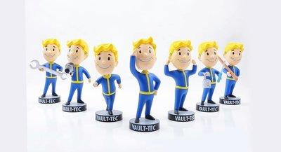 游戲公仔Fallout4輻射4游戲周邊手辦一代111輻射小子(Vault Boy)公仔手辦
