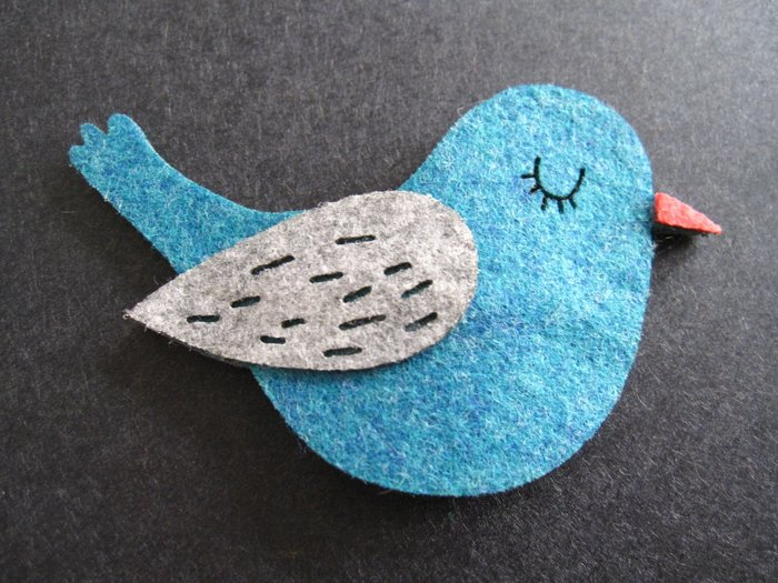 土耳其藍小鳥髮夾
