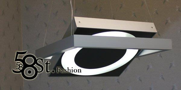 【58街】義大利設計師款式「新潮系吊燈,可轉換造型」複刻版 。GH-222