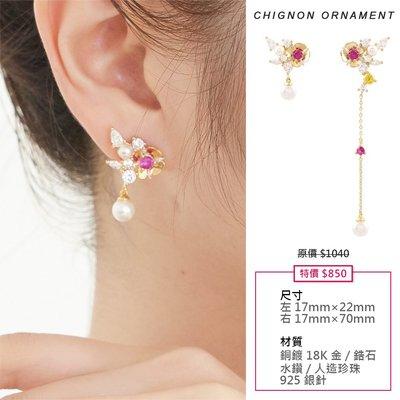 【韓Lin連線代購】韓國 NOONOO FINGERS - 925銀針 CHIGNON ORNAMENT E01 耳環