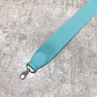 Hermes 背帶 帆布款 3P Blue Atoll Tiffany藍《精品女王全新&二手》
