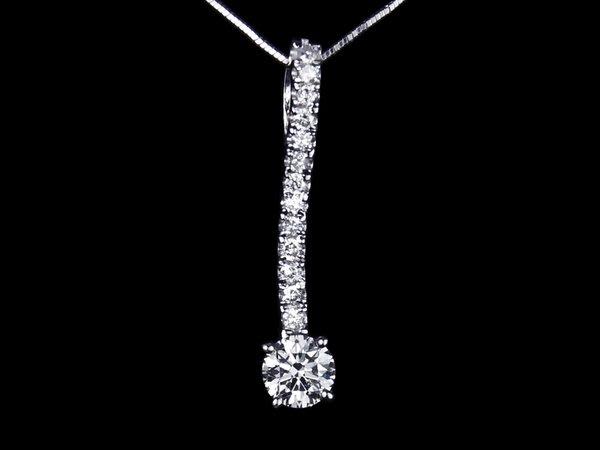 【公信精品】鑽石項墜項鍊 0.53克拉 八心八箭 H&A 白K金天然鑽墜 50分鑽墜