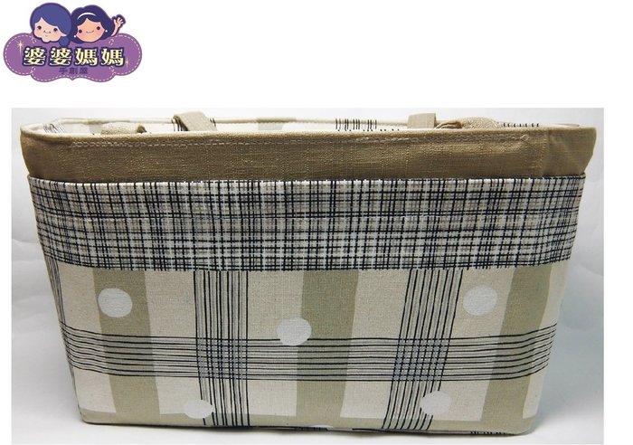 【露西小舖】╭*手作限量(格紋與圓,大,平面格層)❤日雜熱銷款❤袋中袋包中包收納袋收納包多功能包整理袋整理包手拿包分類包