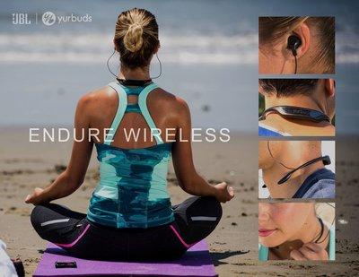 【原廠正品】JBL YURBUDS Endure無線運動藍牙耳機跑步入耳式頸掛式掛脖項圈/藍芽4.2/支援Aptx 無損