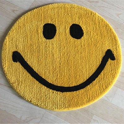 紅皇后定制金黃色圓形地毯兒童房臥室吊籃地墊電腦椅地毯拍照瑜伽毯機洗