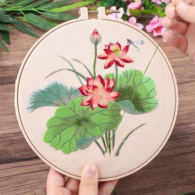 刺繡diy手工創意禮物製作 成人初學古風絲帶繡繡花布藝材料包蘇繡