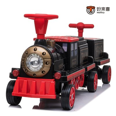 玩具火車 好來喜小火車兒童電動車四輪男女寶寶童車兒童可坐人小孩玩具汽車