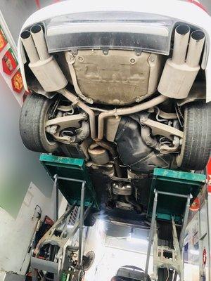 【YGAUTO】二手時間 AUDI 奧迪 B8 A4 升級 義大利 Supersprin 超級春天 二手全段閥門排氣管
