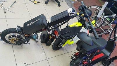 元亨電動車頭 48v18ah 快接快拆輪椅 12吋電機1500W 輪椅車頭 電力輔助車 電動三輪車 電動四輪車 電動車