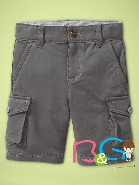 【B& G童裝】正品美國進口GAP Knit cargo shorts 雙側口袋灰色短褲2yrs