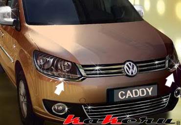 VW CADDY Touran 福斯 德國原裝進口 不鏽鋼 保桿大燈下飾條 非一般塑膠鍍鉻品