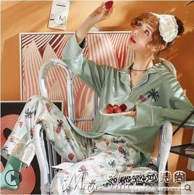 秋季睡衣睡衣女春秋款純棉長袖薄款韓版月子秋季套裝寬鬆