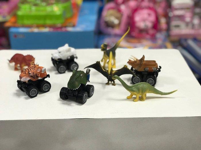 『※妳好,可愛※』韓國玩具 恐龍公仔+恐龍迴力車 劍齒虎迴力車 遠古生物 兒童玩具 恐龍玩具