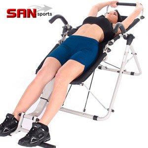 速立挺健身椅結合倒立機+仰臥起坐板健腹椅健腹機美背機運動無重力躺椅扶手椅休閒椅伸展拉筋板折疊椅C185-003【推薦+】
