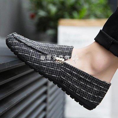豆豆鞋男韓版學生懶人一腳蹬男鞋透氣老北京布鞋休閒