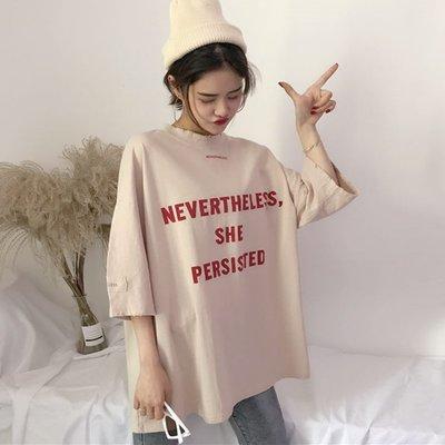 夏季女裝短袖T恤 ins原宿風bf字母cec純棉短袖T恤女學生韓版ulzzang百搭半截袖上衣