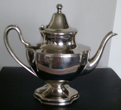 124精美高級鍍銀壺Vintage Keystone Silver plate Coffee Tea Pot