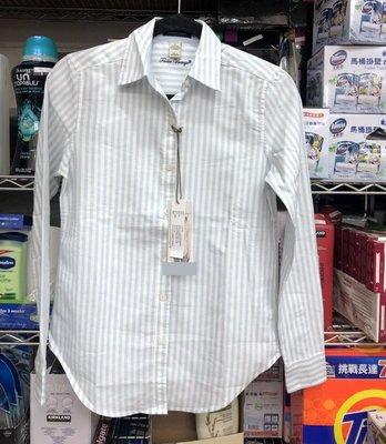 購Happy~TAILOR VINTAGE 女長袖襯衫 藍白條 M