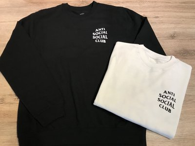 【MASS】ANTI SOCIAL SOCIAL CLUB MIND GAMES CREWNECK 大學TEE 黑色