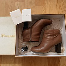 Venilla suite camel brown leather ankle boots heels cos l.T其下名牌品牌真皮深啡色焦糖色駝色短靴 襯衫
