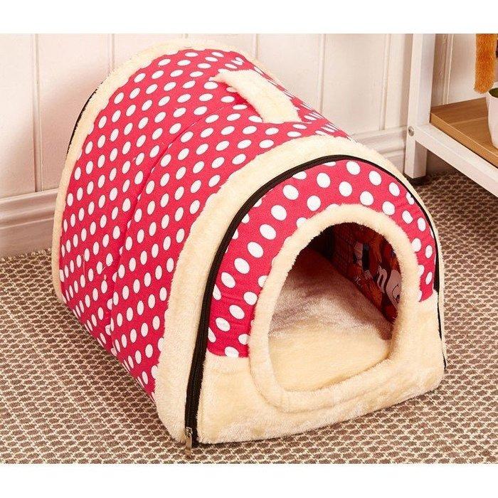 寵物用品狗窩可拆洗夏寵物窩貓窩屋兩用窩提手窩