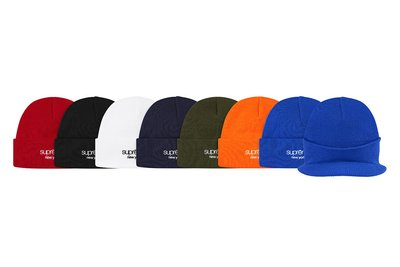 全新商品 Supreme 19FW Classic Logo Beanie 刺繡 毛帽 針織帽