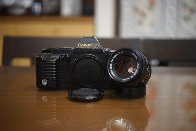 【售】底片相機最佳入門機 CANON T-70 單眼機加購50mm F1.4 人像鏡 28mm街拍鏡 F1 AE1