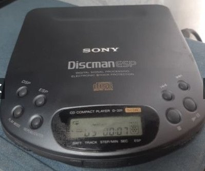 CD隨身聽 Sony Discman D-321 ESP 日本製 光纖輸出 93年旗艦 銘機