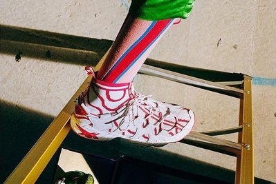 (土豆)Vivienne Westwood ASICS GEL Mai Knit MT 白紅 squiggle 波紋 男女代買
