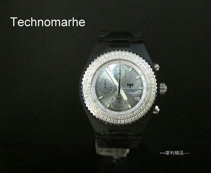 【摩利精品】Technomarine 帝諾鑽石計時錶*真品*
