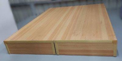 樂居二手家具(北) 便宜2手傢俱拍賣B102503*木色床箱* 二手床組 床墊 床架 床頭櫃 床底