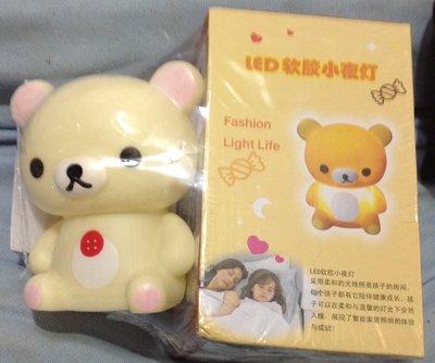 全新白熊LED臺燈觸摸式充電女孩軟膠護眼小夜燈