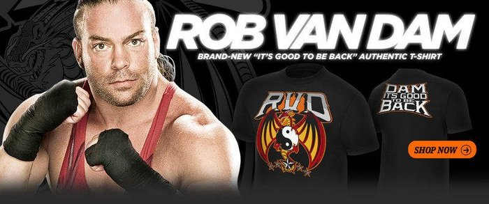 ☆阿Su倉庫☆WWE Rob Van Dam It's Good To Be Back T-Shirt RVD強勢回歸款