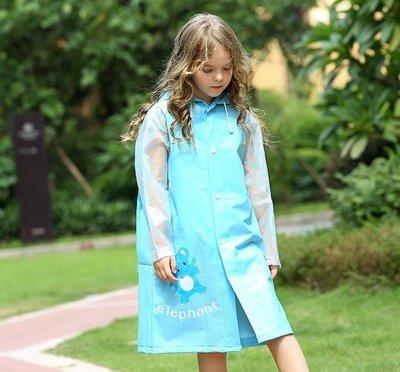 兒童雨衣男童女童幼兒園可愛寶寶雨衣小學生帶書包位防水雨衣雨披