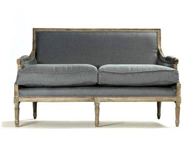 【台大復古家居_法式家具_訂製】法式 沙發 French Louis XVI Sofa【比利時純麻布_RH 美式風格】