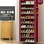 【T3】簡易鞋櫃 十層鞋架 多功能鞋架 布套防塵 收納架 組合鞋架 衣架收納箱 鞋盒 置物架儲物櫃櫥櫃衣櫥衣櫃【H47】