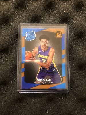 LONZO BALL 2017-18 Panini Donruss Rated Rookie Card RC Base Cards.