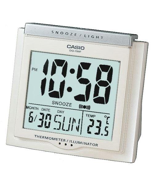 【CASIO 】DQ-750F-7 數字電子鬧鐘.冷光 鬧鈴.貪睡功能 . 溫度量測(公司貨)另有多種SEIKO