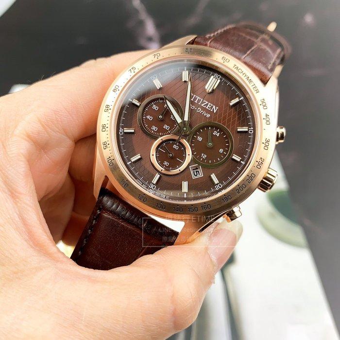 CITIZEN CA4452-17X 星辰 ECO-Drive 計時碼表 光動能 男錶 公司貨 中性錶
