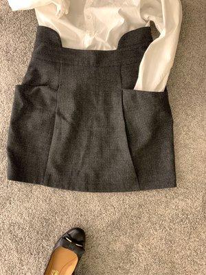 glimmer 黑色小黑裙(花苞雙口袋)Franckalbou* EURYTHMIC 冬天毛呢短裙