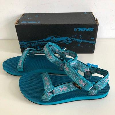 《現貨》美國 女生 TEVA涼鞋 運動涼鞋 Original Universal 尺寸US9(緹花織帶涼鞋-蜥蜴藍)