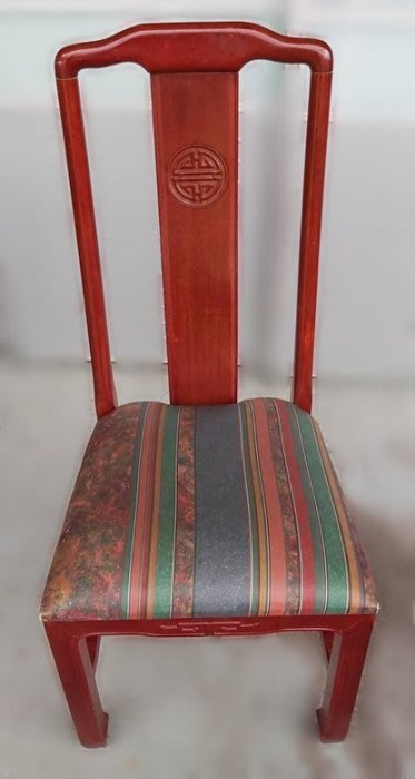 樂居二手家具(北) 便宜2手傢俱拍賣FW102404紅木餐椅* 二手餐桌椅 二手洽談桌椅 二手餐飲桌椅