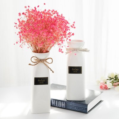 爆款創意北歐ins陶瓷花瓶干花插花家用客廳現代裝飾品小清新餐桌擺件#簡約#陶瓷#小清新