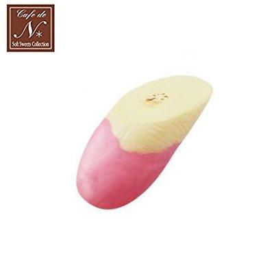 含稅 日本正版 香蕉片 草莓款 捏捏吊飾 吊飾 捏捏樂 軟軟 CAFE DE N SQUISHY【618214】