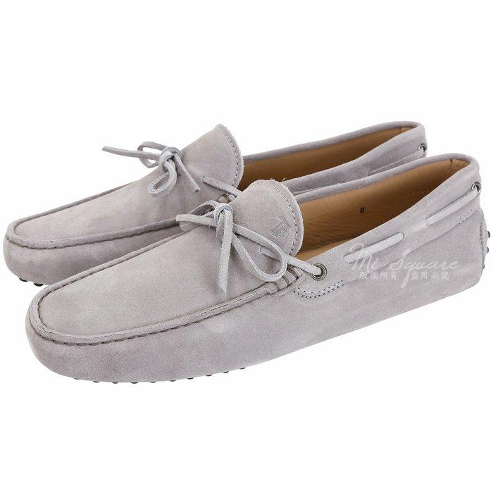 米蘭廣場 TOD'S Gommino 麂皮綁帶休閒豆豆鞋(男鞋/淺灰色) 1240500-D7