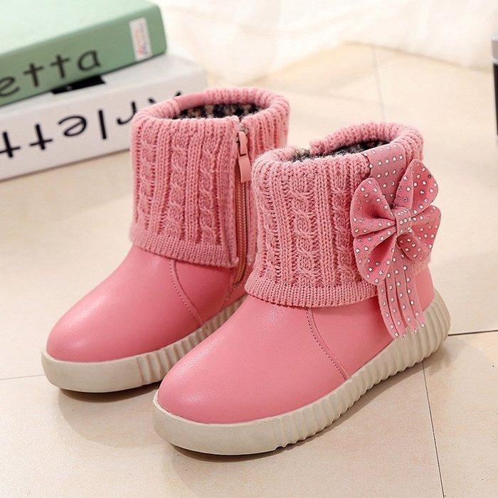 東大門平價鋪   女童加棉保暖雪地靴,韓版女童鞋棉公主靴子