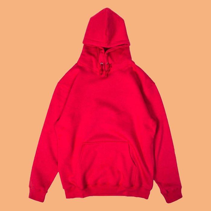 JCI:Facts 紅色全素 帽T / SUPREME / STUSSY / GOSHA / ADIDAS